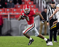 ATHENS, GA - NOVEMBER 09: Dominick Blaylock #8 of the Georgia Bulldogs runs with the ball during a game between Missouri Tigers and Georgia Bulldogs at Sanford Stadium on November 09, 2019 in Athens, Georgia.
