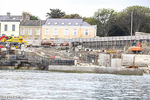 Works to connect the path at Sandycove to the East Pier at Dun Laoghaire Baths site continue