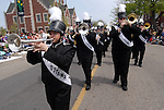 Dan Irving/The Holland Sentinel.Members of the West Ottawa High School Marching Band perform during the Muziekparade Saturday afternoon..(5/10/08)