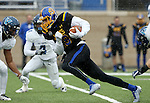 BROOKINGS, SD - DECEMBER 3:  Jake Wieneke #19 from South Dakota State picks up extra yardage against Villanova during their second round playoff game Saturday afternoon at Dana J. Dykhouse Stadium in Brookings, SD. (Photo by Dave Eggen/Inertia)