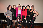 One Life To Live and General Hospital's Kristen Alderson joins the cast of The Marvelous Wonderettes and on November 5, 2018 go to see castmate Michelle Dowdy as she performs at Don't Tell Mama, New York City, New York. Photo taken after the show with the cast of The Marvelous Wonderettes - Amy Toporek, Maggie McDowell, Michelle Dowdy, Amy Hilner Larsen, Kristen Alderson and Meg Lanzarone.  (Photo by Sue Coflin/Max Photos)