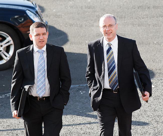 Steve Brown, St Johnstone on left arriving at Hampden