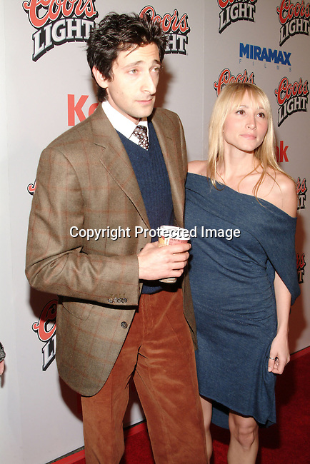 Adrien Brody and Michelle Dupont<br />