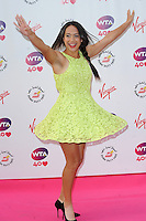 NON EXCLUSIVE PICTURE: PAUL TREADWAY / MATRIXPICTURES.CO.UK<br /> PLEASE CREDIT ALL USES<br /> <br /> WORLD RIGHTS<br /> <br /> British tennis player Heather Watson attending the WTA Pre Wimbledon Party, at London's Kensington Roof Gardens.<br /> <br /> 20th JUNE 2013<br /> <br /> REF: PTY 134225