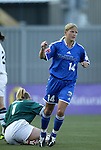 13 July 2003: Dagny Mellgren (14) celebrates after scoring a goal on Melissa Moore (1). The Boston Breakers defeated the Philadelphia Charge 3-1 at Boston University's Nickerson Field in Boston, MA in a regular season WUSA game..Mandatory Credit: Andy Mead/Icon SMI