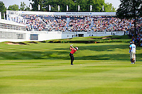 Joost Luiten (NED) on the 18th during round 3 of the 2016 BMW PGA Championship. Wentworth Golf Club, Virginia Water, Surrey, UK. 28/05/2016.<br /> Picture Fran Caffrey / Golffile.ie<br /> <br /> All photo usage must carry mandatory copyright credit (© Golffile   Fran Caffrey)