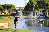 Padraig Harrington (IRL) plays his 2nd shot on the 17th hole during Friday's Round 2 of the 2018 Turkish Airlines Open hosted by Regnum Carya Golf &amp; Spa Resort, Antalya, Turkey. 2nd November 2018.<br /> Picture: Eoin Clarke | Golffile<br /> <br /> <br /> All photos usage must carry mandatory copyright credit (&copy; Golffile | Eoin Clarke)