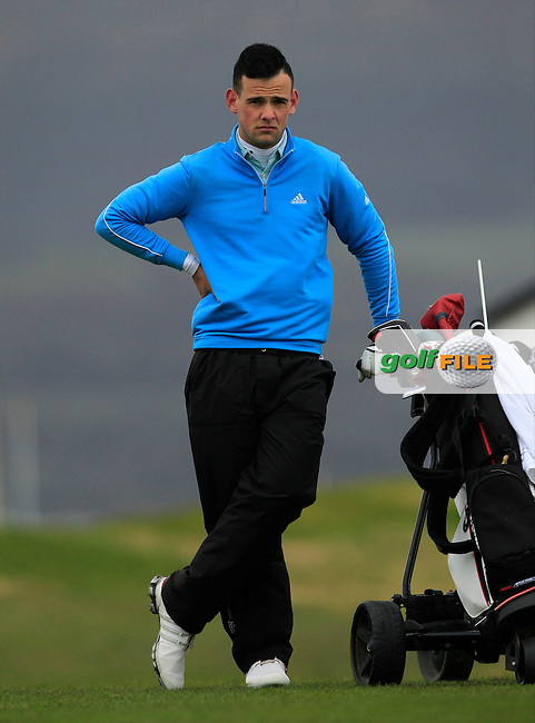 Paul Coughlan (Moate) on the 4th during the Stroke Play Round 1 of the West of Ireland Amateur Open Championship at the Co. Sligo Golf Club in Rosses Point on Friday 25th March 2016.<br /> Picture:  Golffile / Thos Caffrey