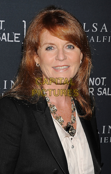 Sarah Ferguson, Duchess of York.AllSaints Spitalfields and Not For Sale Launch Exclusive Collection held at The Music Box, Hollyood, California, USA..24 October 2011.headshot portrait white black necklace fergie .CAP/ROT/TM.©Tony Michaels/Roth Stock/Capital Pictures