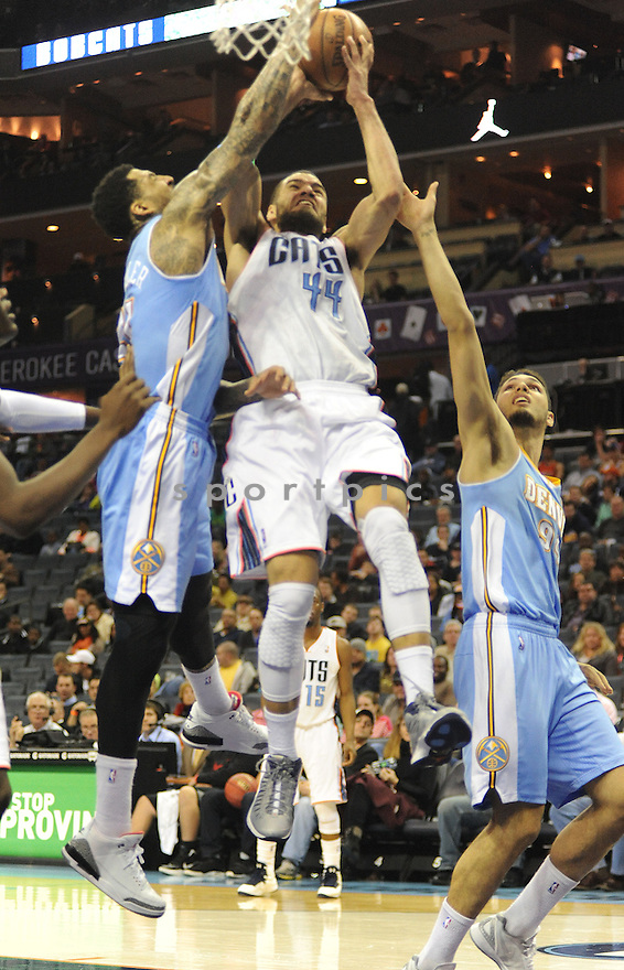 Charlotte Bobcats Jeffery Taylor (44) in action during a game against Denver on February 23, 2013 at Time Warner Arena in Charlotte, NC.Denver beat Charlotte 113 -99..