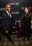 "Daniel Breaker, Rory Breaker and Kate Whoriskey attend the Broadway Opening Night Production of  ""Sweat"" at studio 54 Theatre on March 26, 2017 in New York City"