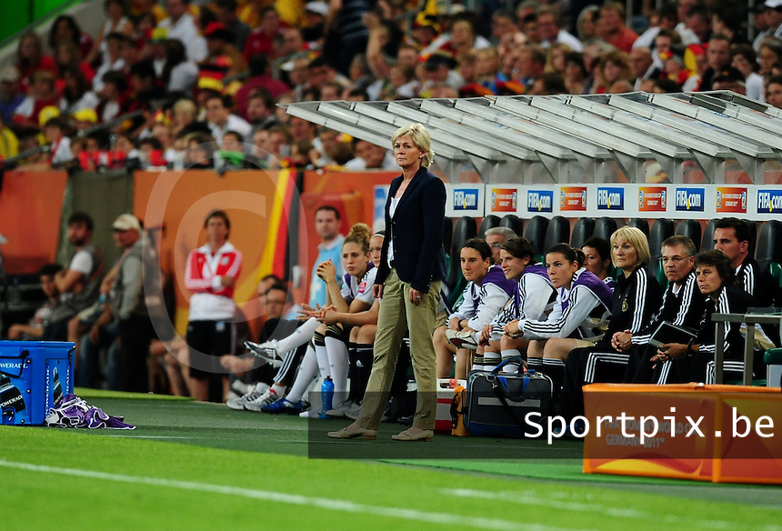 Fifa Women's World Cup Germany 2011 : France - Germany ( Frankrijk - Duitsland ) at Munchengladbach World Cup stadium : coach Silvia NEID.foto DAVID CATRY / Vrouwenteam.be
