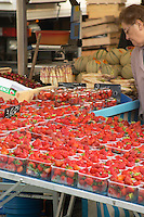 street market strawberries tain l hermitage rhone france