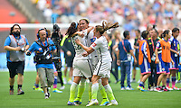 Vancouver, Canada - Sunday, July 5, 2015: The USWNT defeat Japan 5-2 to win the 2015 FIFA Women's World Cup Final at BC Place.