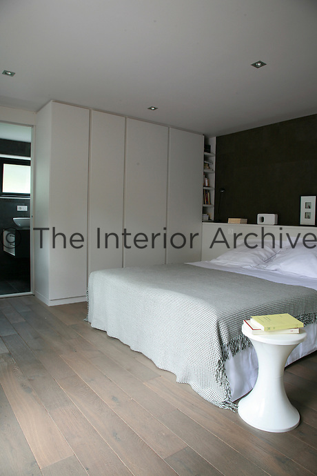 The floorboards in the bedroom are bleached oak, chosen for their warmth, colour and texture