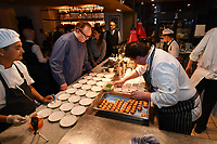 MELBOURNE, 30 June 2017 – Barry Davis prepares his dish of Leek & potato velouté, oyster beignet at a dinner celebrating Philippe Mouchel's 25 years in Australia with six chefs who worked with him in the past at Philippe Restaurant in Melbourne, Australia.