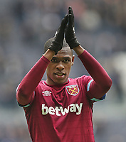 West Ham United's Issa Diopa at the end of the game<br /> <br /> Photographer Rob Newell/CameraSport<br /> <br /> The Premier League - Tottenham Hotspur v West Ham United - Saturday 27th April 2019 - White Hart Lane - London<br /> <br /> World Copyright © 2019 CameraSport. All rights reserved. 43 Linden Ave. Countesthorpe. Leicester. England. LE8 5PG - Tel: +44 (0) 116 277 4147 - admin@camerasport.com - www.camerasport.com