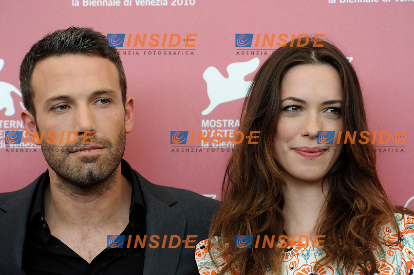 "- ""67 Mostra Internazionale D'Arte Cinematografica"". Wednesday, 2010 September 08, Venice ITALY..- In The Picture: The film director and actor Ben Affleck with the actress Rebecca Hall  at the photocall for the film ""THE TOWN""...Photo STEFANO MICOZZI / Insidefoto"
