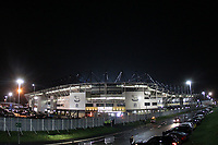 A general view of Pride Park Stadium the home of Derby County<br /> <br /> Photographer Mick Walker/CameraSport<br /> <br /> The EFL Sky Bet Championship - Derby County v Nottingham Forest - Monday 17th December 2018 - Pride Park - Derby<br /> <br /> World Copyright © 2018 CameraSport. All rights reserved. 43 Linden Ave. Countesthorpe. Leicester. England. LE8 5PG - Tel: +44 (0) 116 277 4147 - admin@camerasport.com - www.camerasport.com