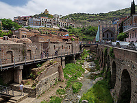 Taborkloster und Bäderviertel Abanotubani, Tiflis – Tbilissi, Georgien, Europa<br /> Monatery Tabor and thermal quarter, Tbilisi, Georgia, Europe