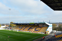The One Call Stadium prior to the Sky Bet League 2 match between Mansfield Town and Wycombe Wanderers at the One Call Stadium, Mansfield, England on 31 October 2015. Photo by Garry Griffiths.