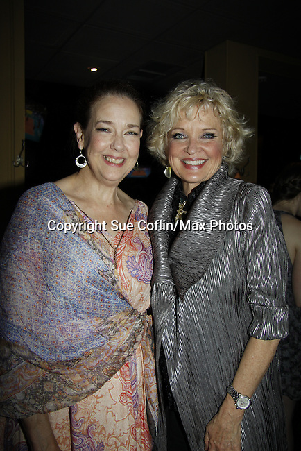 "Harriet Harris & Christine Ebersole ""Baroness . . ."" - Ryan's Hope & One Life To Live - Paper Mill Playhouse presents the world premiere of the the new musical Ever After on May 31, 2015 with curtain call followed by gala at Charlie Bowns in Millburn, New Jersey (Photos by Sue Coflin/Max Photos)"