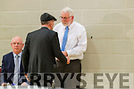Michael Healy Rae and Martin Ferris at the Kerry General Election Count in Killarney.