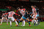 Kieran Lee of Sheffield Wednesday battles with Marc Wilson of Stoke City - Capital One Cup Quarter-Final - Stoke City vs Sheffield Wednesday - Britannia Stadium - Stoke - England - 1st December 2015 - Picture Simon Bellis/Sportimage