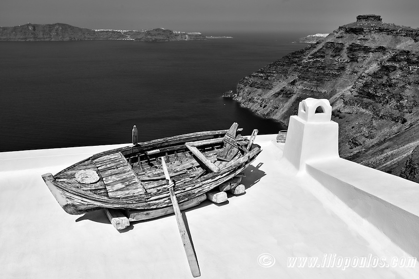 The view from Firostefani in Santorini, Greece