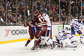 David Cotton (BC - 17), Michael Kapla (UML - 3), Tyler Wall (UML - 33) The University of Massachusetts-Lowell River Hawks defeated the Boston College Eagles 4-3 to win the 2017 Hockey East tournament at TD Garden on Saturday, March 18, 2017, in Boston, Massachusetts.