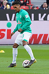 17.03.2019, BayArena, Leverkusen, GER, 1. FBL, Bayer 04 Leverkusen vs. SV Werder Bremen,<br />  <br /> DFL regulations prohibit any use of photographs as image sequences and/or quasi-video<br /> <br /> im Bild / picture shows: <br /> Theodor Gebre Selassie (Werder Bremen #23), beim Aufwaermen, Einzelaktion,  <br /> <br /> Foto © nordphoto / Meuter