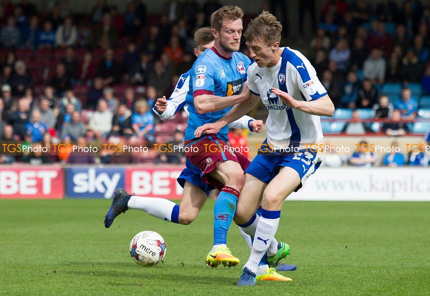 Tom Anderson (Chesterfield) during Scunthorpe United vs Chesterfield, Sky Bet EFL League 1 Football at Glanford Park on 17th April 2017