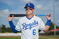 Burlington Royals infielder Michael Massey (6) poses for a photo prior to the game against the Danville Braves at Burlington Athletic Stadium on July 13, 2019 in Burlington, North Carolina. The Royals defeated the Braves 5-2. (Brian Westerholt/Four Seam Images)