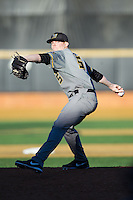 Missouri Tigers starting pitcher Brett Graves (5) in action against the Wake Forest Demon Deacons at Wake Forest Baseball Park on February 22, 2014 in Winston-Salem, North Carolina.  The Demon Deacons defeated the Tigers 1-0.  (Brian Westerholt/Four Seam Images)