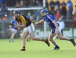 Jack Browne of Ballyea in action against Podge Collins of  Cratloe during the county senior hurling final at Cusack Park. Photograph by John Kelly.