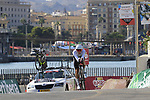 Stephen Cummings (GBR) Team Dimension Data during Stage 1 of the La Vuelta 2018, an individual time trial of 8km running around Malaga city centre, Spain. 25th August 2018.<br /> Picture: Eoin Clarke | Cyclefile<br /> <br /> <br /> All photos usage must carry mandatory copyright credit (© Cyclefile | Eoin Clarke)