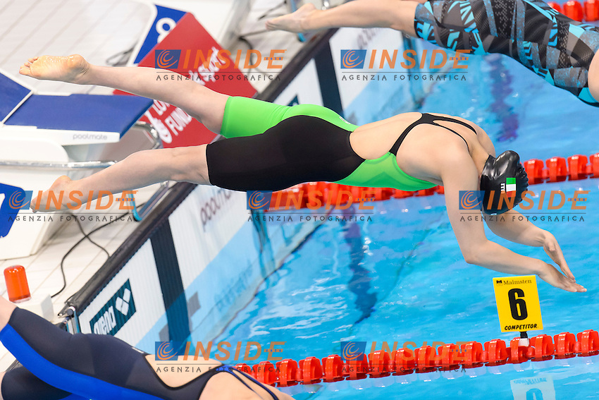 Carlotta TONI ITA <br /> 200m Medley Women <br /> London, Queen Elizabeth II Olympic Park Pool <br /> LEN 2016 European Aquatics Elite Championships <br /> Swimming<br /> Day 10 18-05-2016<br /> Photo Andrea Staccioli/Deepbluemedia/Insidefoto