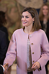 Queen Letizia of Spain during an official meeting at Zarzuela Palace in Madrid, Spain. February 17, 2016. (ALTERPHOTOS/Victor Blanco)