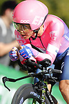 Sergio Andres Higuita Garcia (COL) EF Education First in action during Stage 10 of La Vuelta 2019 an individual time trial running 36.2km from Jurancon to Pau, France. 3rd September 2019.<br /> Picture: Luis Angel Gomez/Photogomezsport | Cyclefile<br /> <br /> All photos usage must carry mandatory copyright credit (© Cyclefile | Luis Angel Gomez/Photogomezsport)