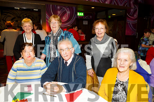 Enjoying the  Irish Red Cross Tea party at the Grand Hotel on Sunday were front l-r Kay Long, Michael Long, Kathy Kelliher Back l-r Siobhan Ahern, Marie Barron Eileen Connolly