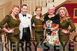 Listowel Military Tattoo: Pictured with the Bombshelle Belles  Emily, Stacey & Katie at the  1940's themed Hangar Dance at the Listowel Arms Hotel on Sunday night last were Joe Lynch & Marion O'Connor.