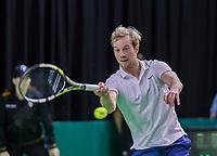 Rotterdam, Netherlands, 10 februari, 2018, Ahoy, Tennis, ABNAMROWTT, Qualifier, Botic van de Zandschulp (NED)<br /> Photo: Henk Koster/tennisimages.com
