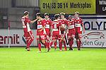 2015-10-31 / Voetbal / seizoen 2015-2016 / Hoogstraten VV - Tempo Overijse / Hoogstraten kon aanvankelijk nog vieren na de 1-0 van Jeroen Meeuwis, maar die vreugde was van korte duur.<br /><br />Foto: Mpics.be
