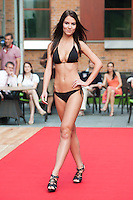 Laura Dotari a participant of the Beauty Queen contest attends a bikini tour in Hotel Abacus, Herceghalom, Hungary on July 07, 2011. ATTILA VOLGYI
