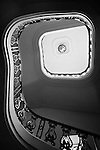 Circular staircase looking up