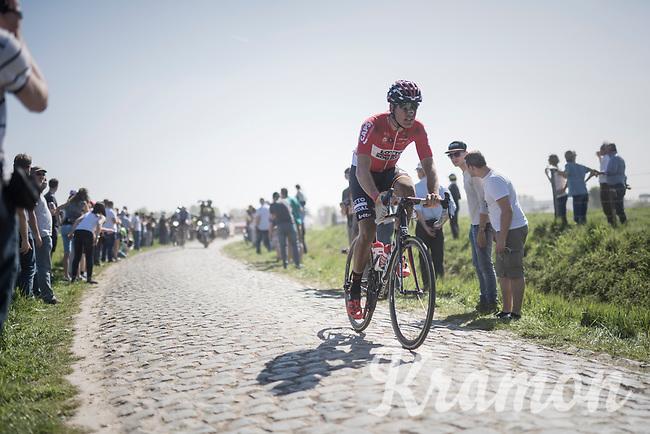 Jelle Wallays (BEL/Lotto-Soudal)<br /> <br /> 115th Paris-Roubaix 2017 (1.UWT)<br /> One Day Race: Compi&egrave;gne &rsaquo; Roubaix (257km)