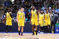 Braunschweig betritt den Court - 11.10.2017: Fraport Skyliners vs. Basketball Löwen Braunschweig, Fraport Arena Frankfurt