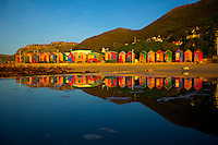 Beach Huts  Cape of Good Hope, South Africa  False Bay Atlantic Oceans
