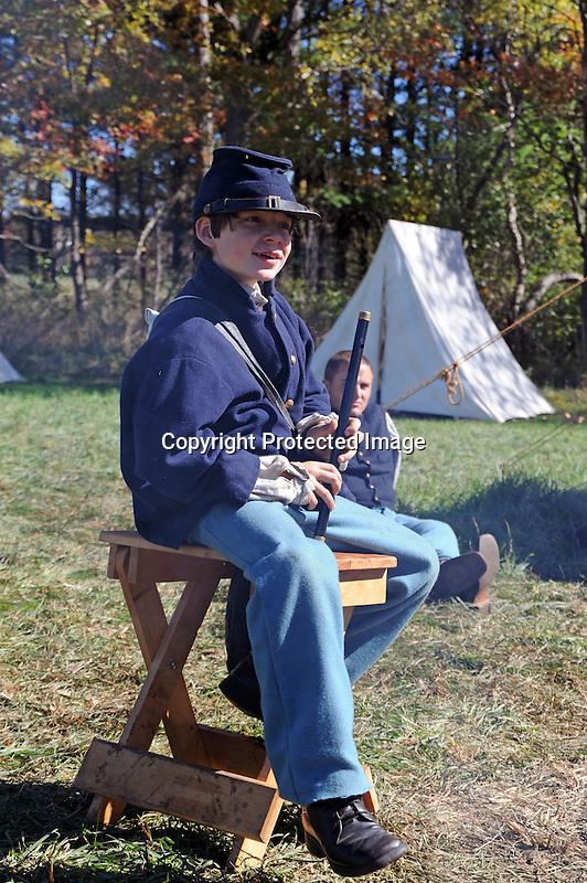 Civil War Reenactment Union Army Fife Player