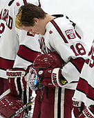 Adam Fox (Harvard - 18) - The Harvard University Crimson defeated the Yale University Bulldogs 6-4 in the opening game of their ECAC quarterfinal series on Friday, March 10, 2017, at Bright-Landry Hockey Center in Boston, Massachusetts.